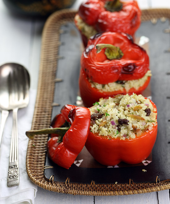 Moroccan Couscous-Stuffed Peppers
