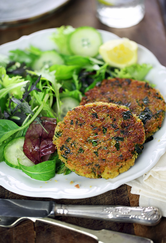 Tuscan chickpea and spinach fritters