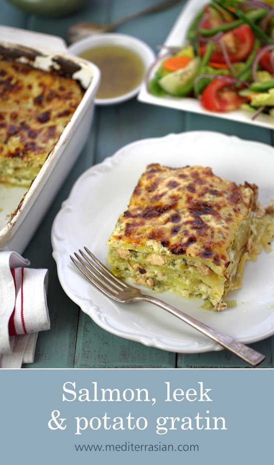 Salmon, Leek and Potato Gratin