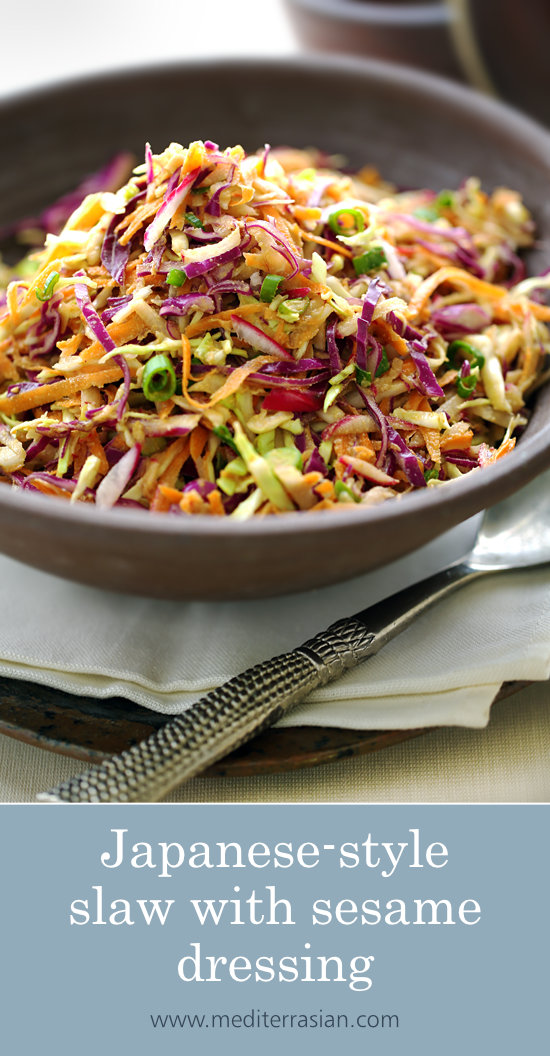 Japanese-style slaw with sesame dressing