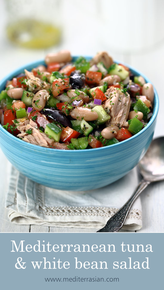 Mediterranean tuna and white bean salad