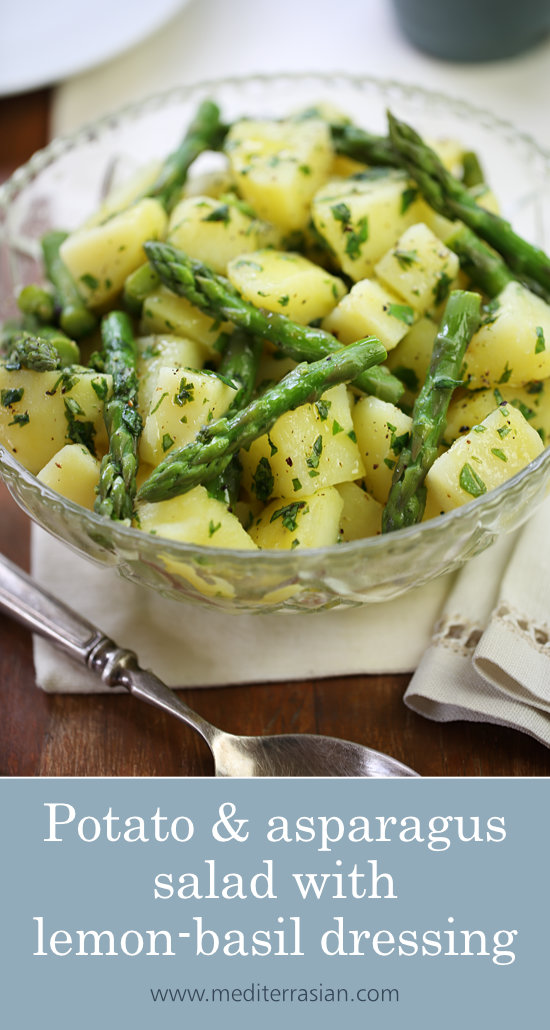 Potato and asparagus salad with lemon-basil dressing