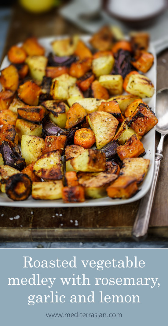 Roasted vegetable medley with rosemary, garlic and lemon