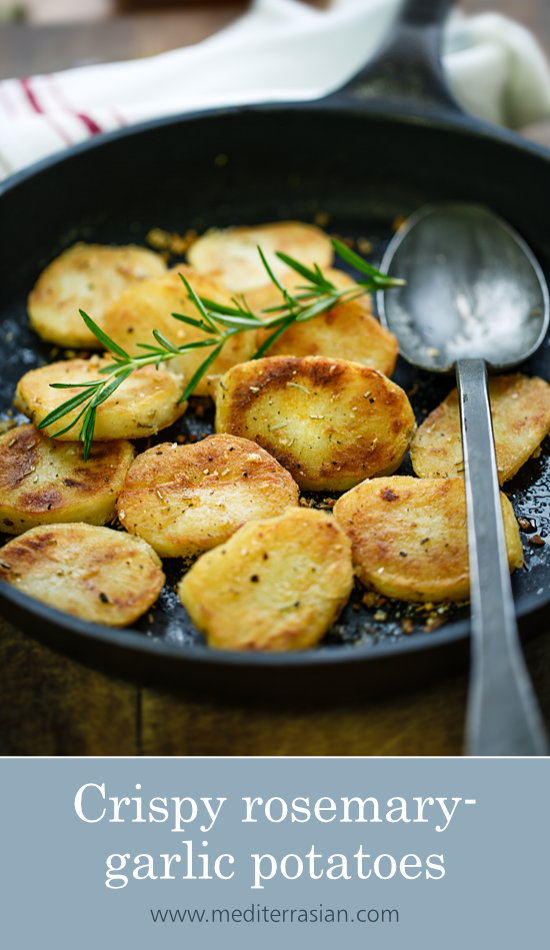 Crispy rosemary-garlic potatoes