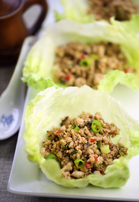 San choy bow (Chinese stuffed lettuce cups)