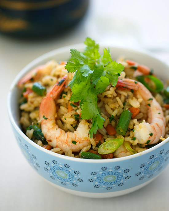 Thai-spiced fried rice with shrimp