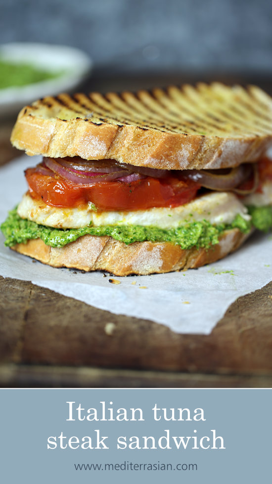 Italian tuna steak sandwich