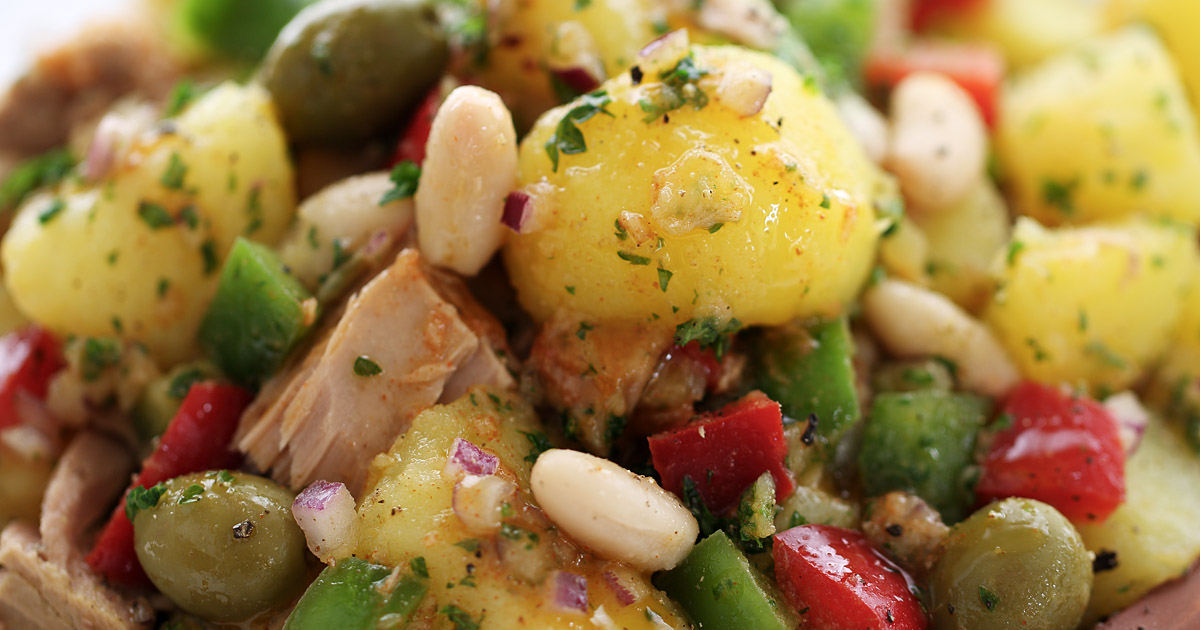 Spanish Potato Tuna And White Bean Salad