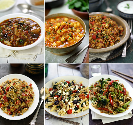18 Meatless Mediterranean and Asian Meals